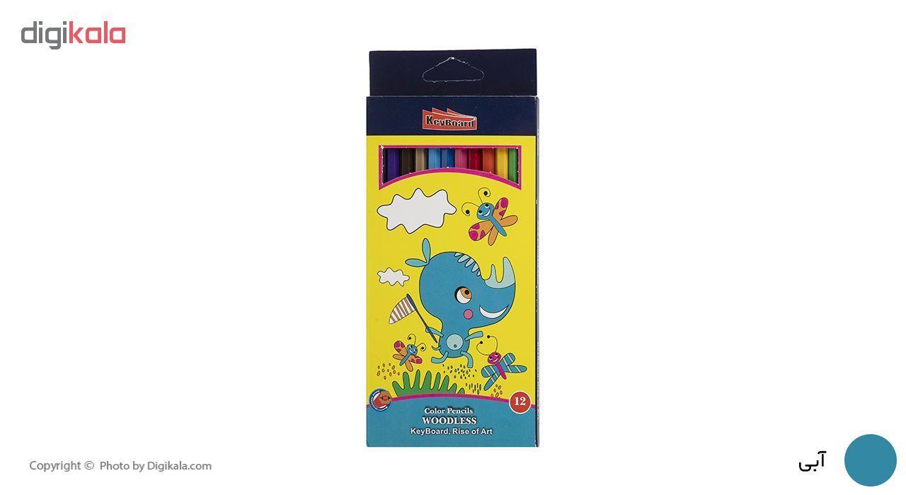 مداد رنگی 12 رنگ کیبورد کد 200469 main 1 1