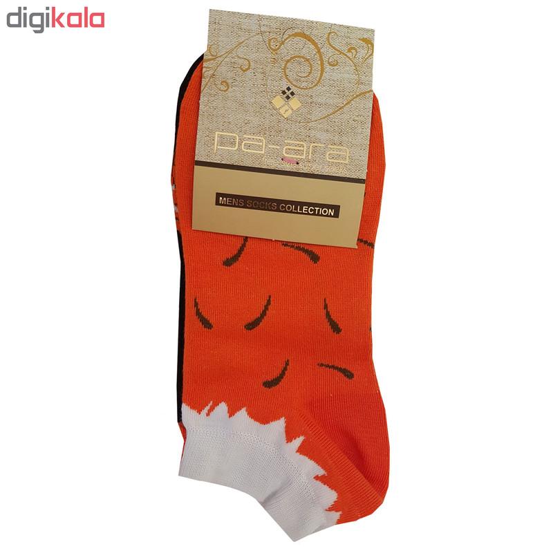 جوراب زنانه پاآرا طرح روباه کد p2