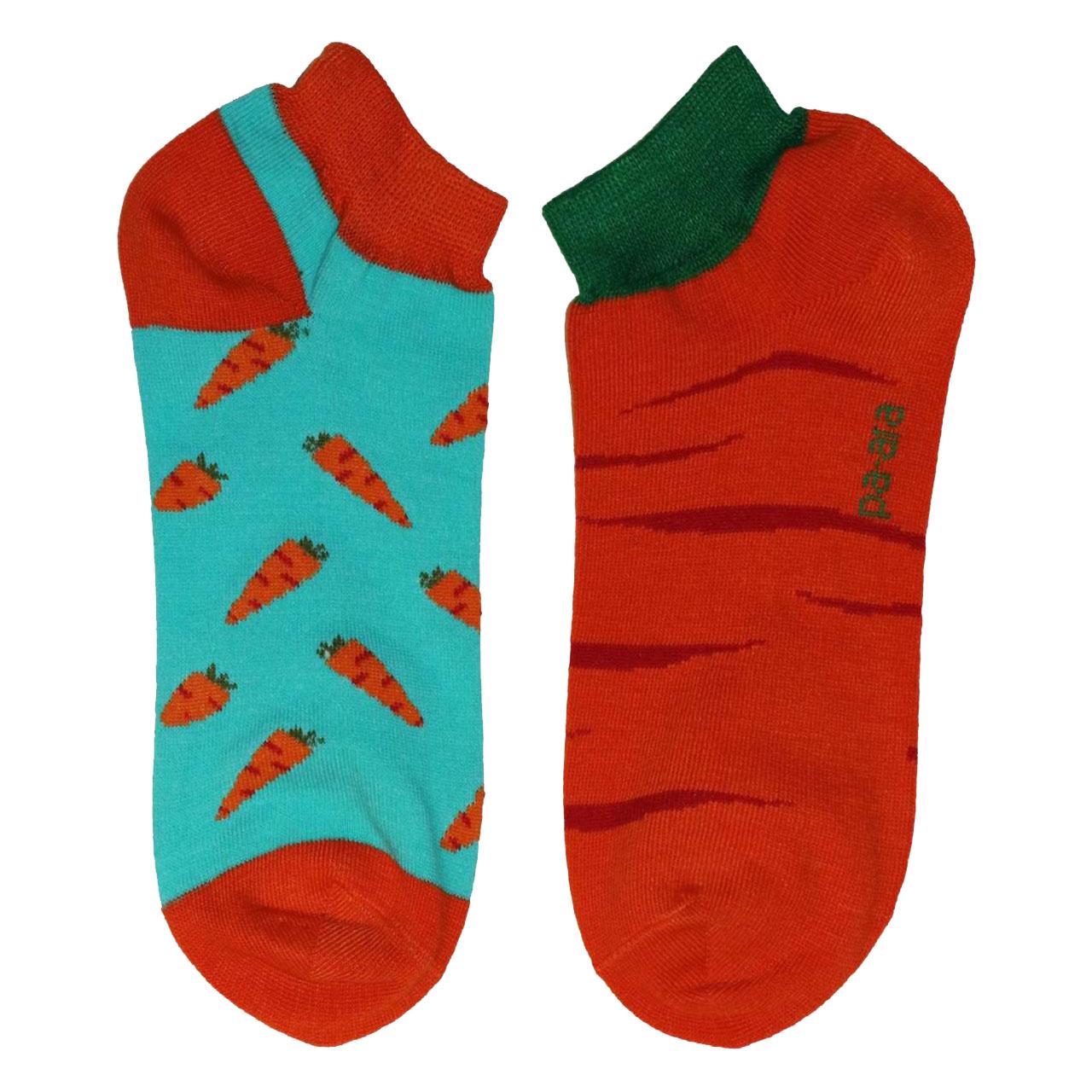 جوراب زنانه پاآرا طرح هویج کد P3