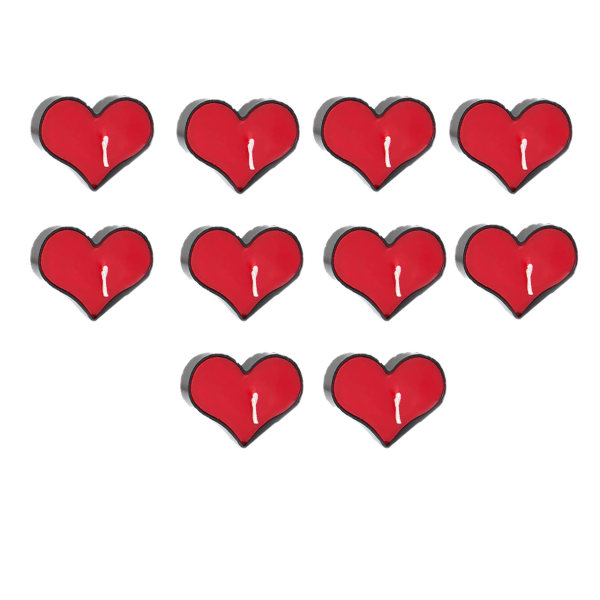 شمع وارمر طرح قلبی بسته 10 عددی