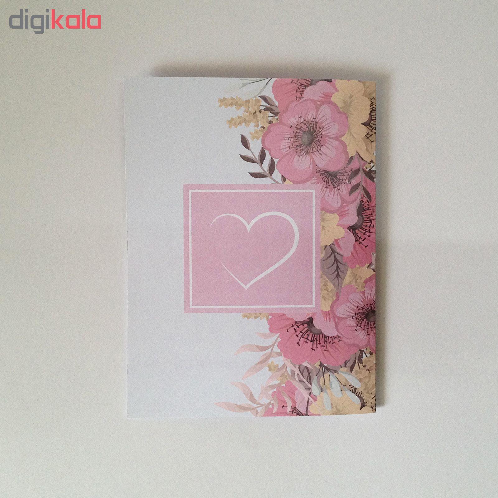 کارت پستال سه بعدی طرح دسته گل کد CP006