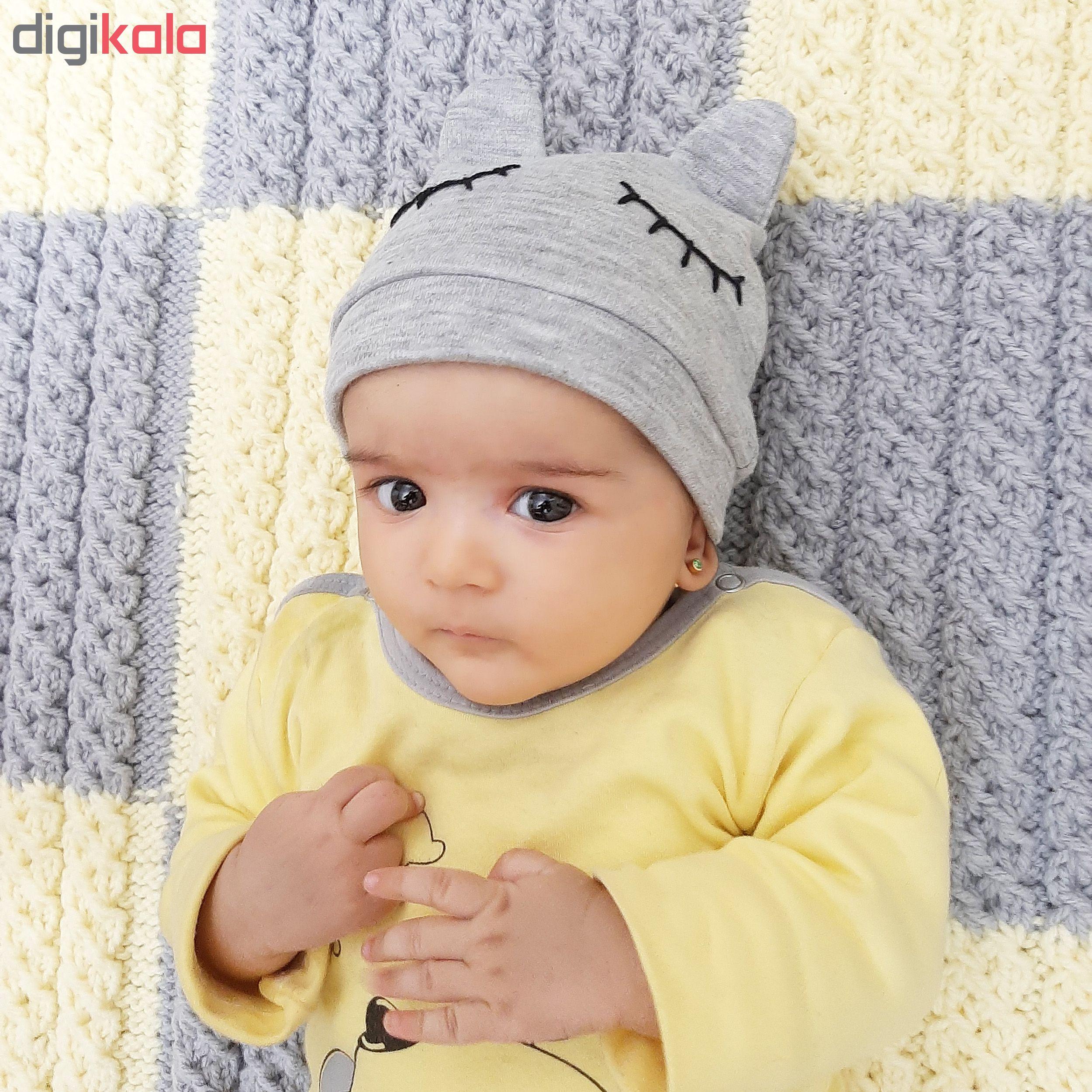کلاه نوزاد طرح خرسی کد m803