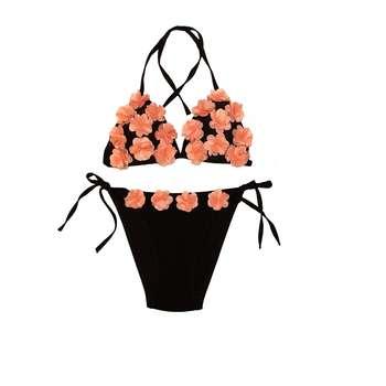 ست شورت و سوتین زنانه طرح بهار کد ۱۲۱ رنگ گلبهی