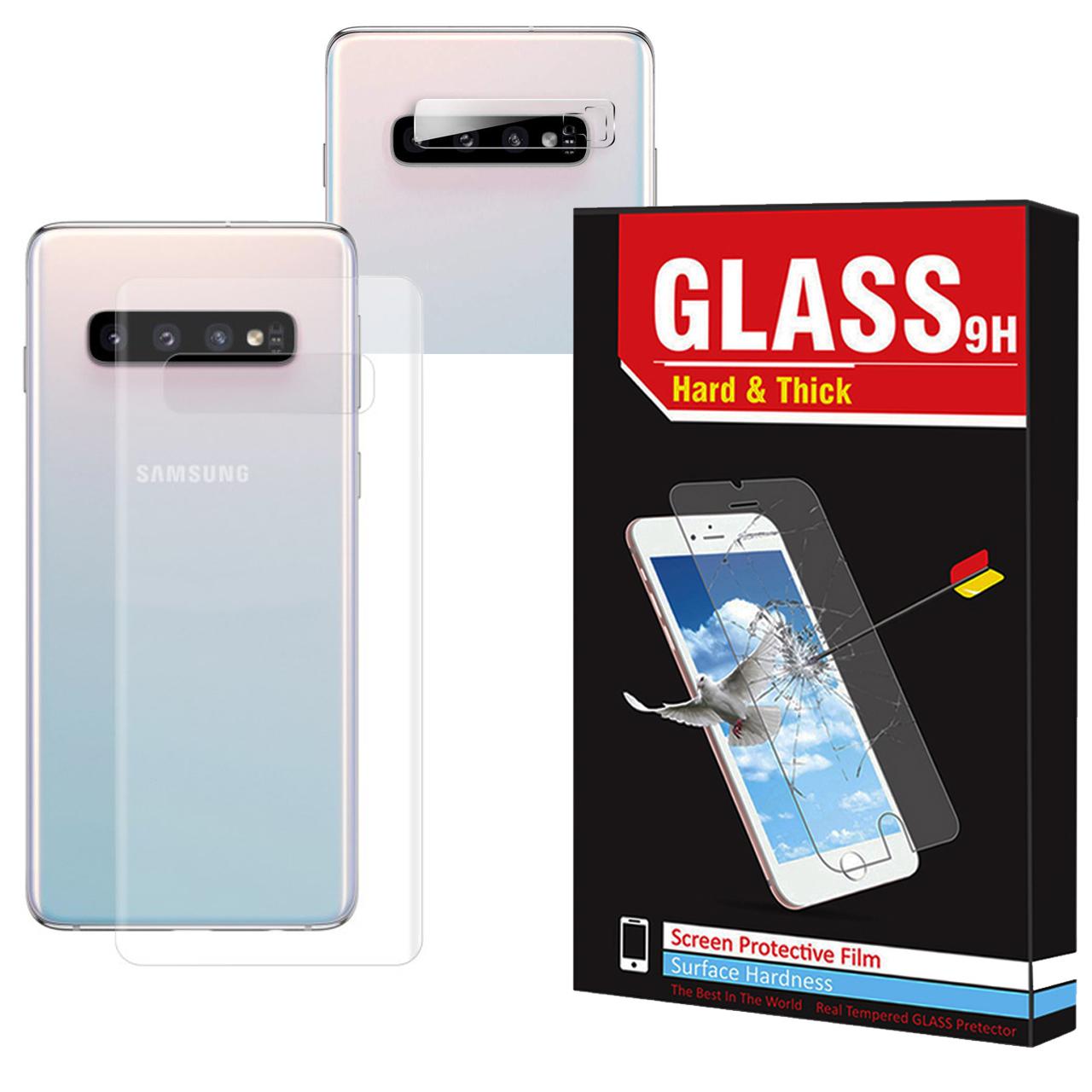 محافظ پشت گوشی  Hard and Thick مدل B-002 مناسب برای گوشی موبایل سامسونگ Galaxy S10 Plus به همراه محافظ لنز دوربین
