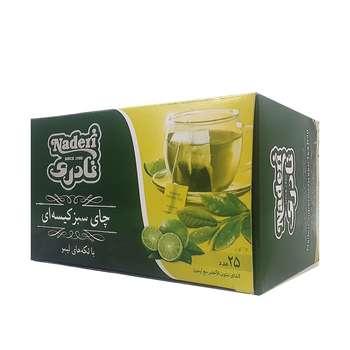 چاي سبز كيسه اي با طعم ليمو نادري بسته 25 عددي