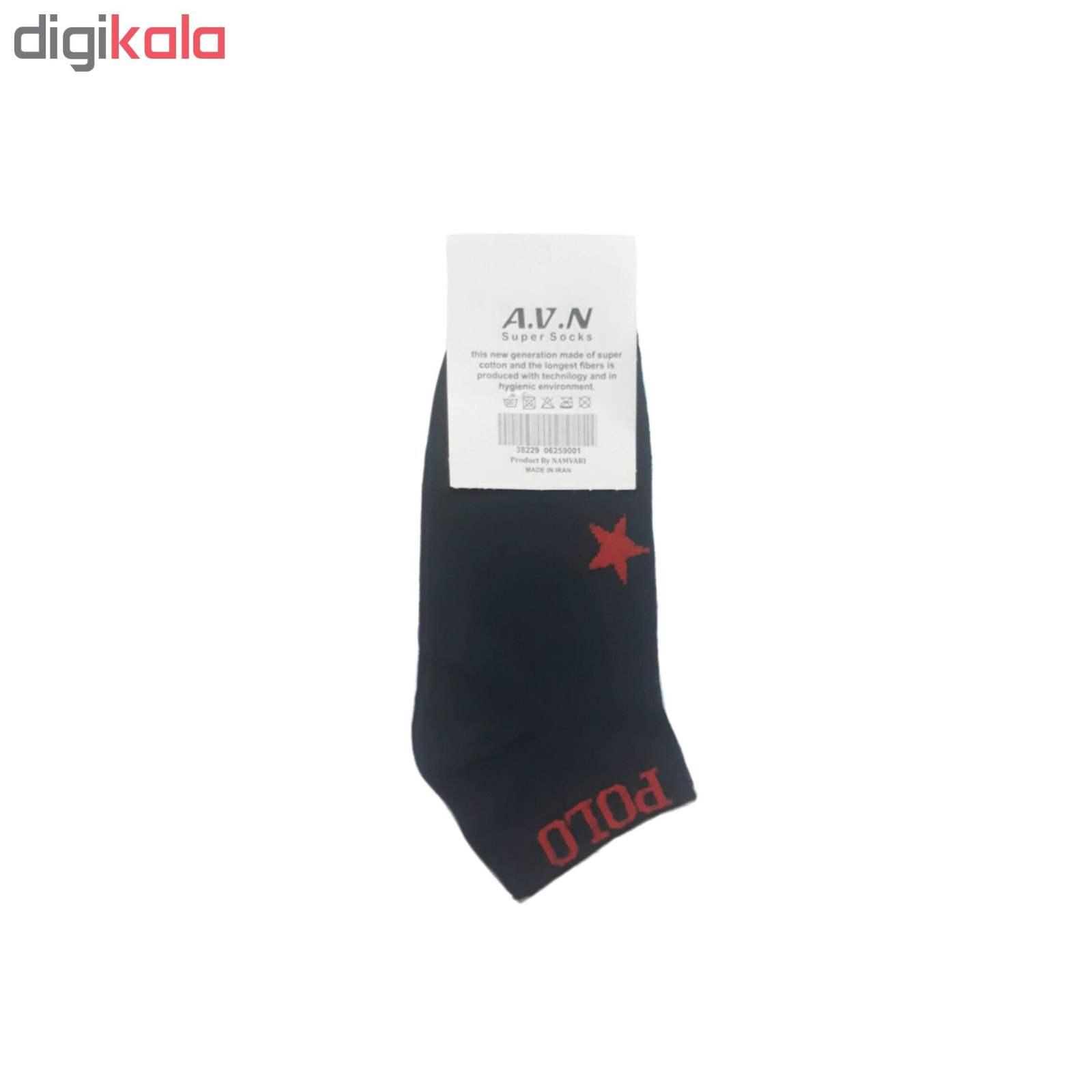 جوراب مردانه طرح پرچم ترکیه main 1 2