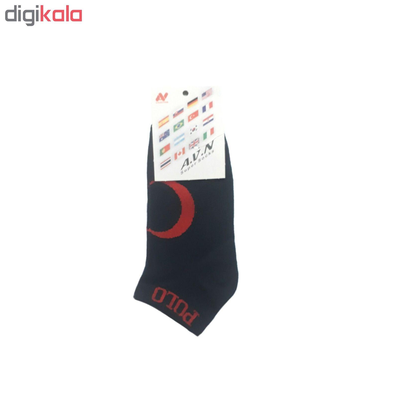 جوراب مردانه طرح پرچم ترکیه main 1 3