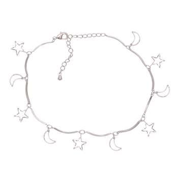 پابند زنانه طرح ماه و ستاره کد PA1116