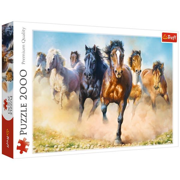پازل 2000 تکه ترفل مدل Galloping Herd Of Horses