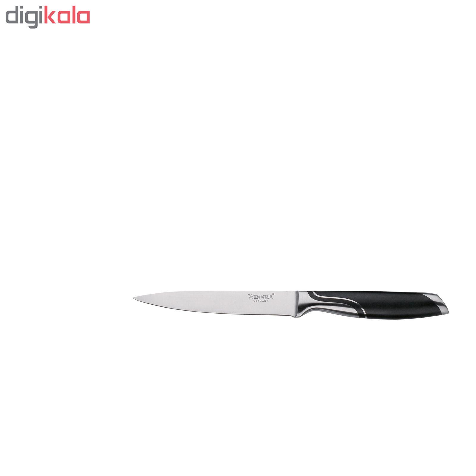 سرویس چاقو آشپزخانه 7 پارچه وینر کد W7336PU به همراه چاقو تیزکن main 1 7