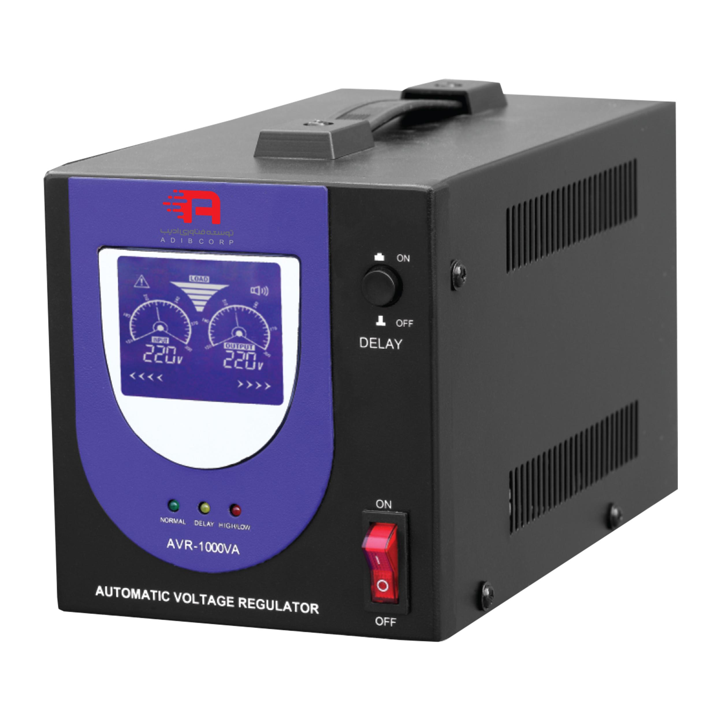 استابلایزر توسعه فناوری ادیب مدل AVR2 با ظرفیت 2000 ولت آمپر