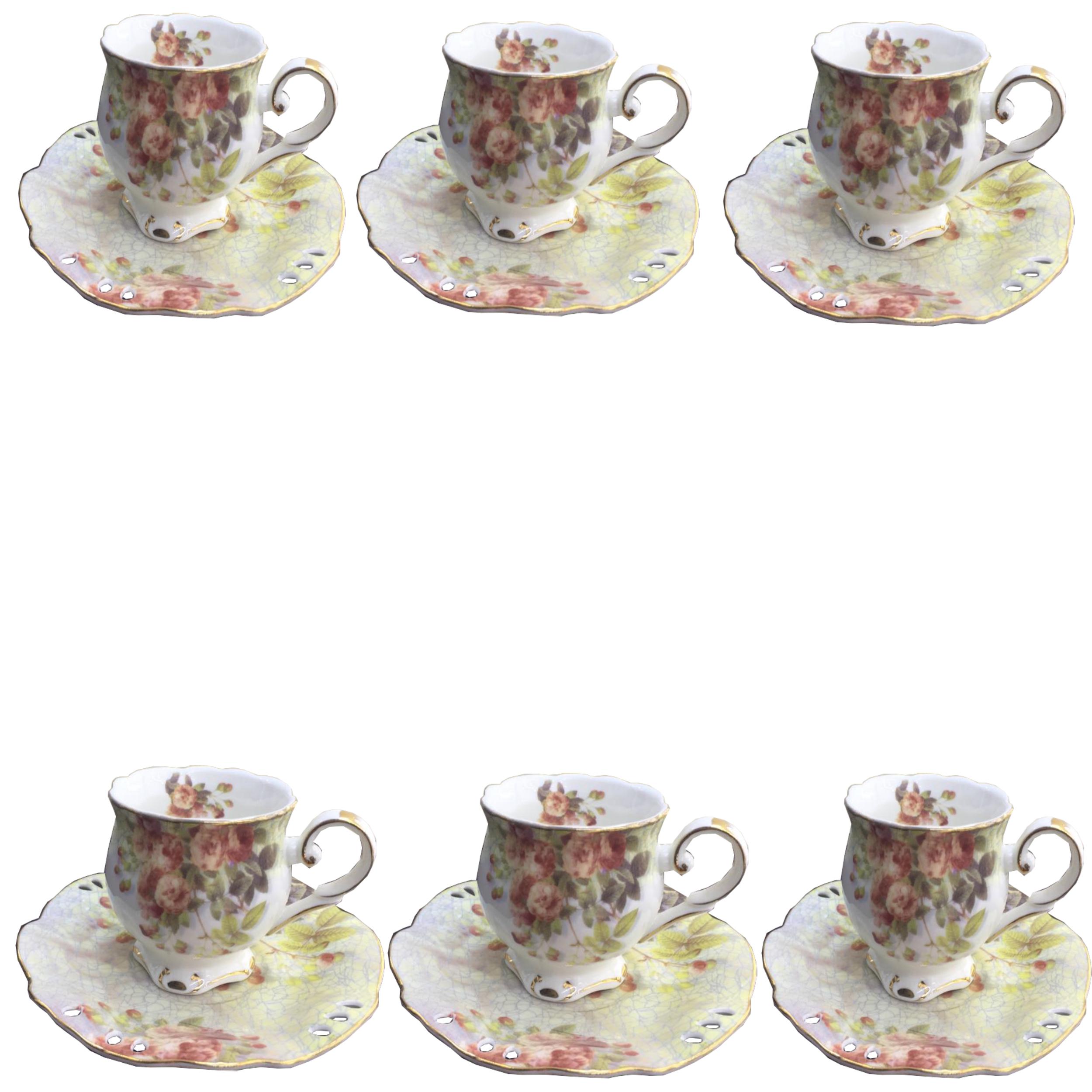 عکس سرویس چای خوری 12 پارچه لمونژ  کد cr 72