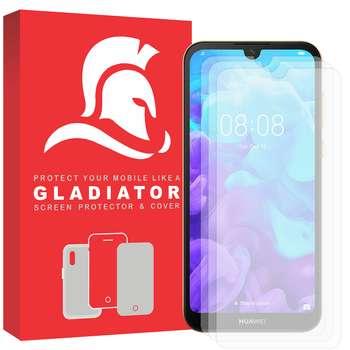 محافظ صفحه نمایش گلادیاتور مدل GLH3000 مناسب برای گوشی موبایل هوآوی Y5 2019 بسته سه عددی