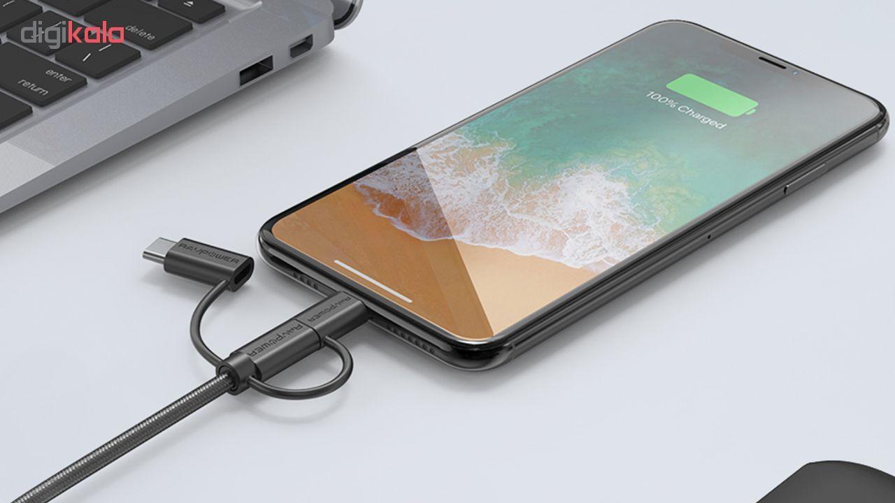 کابل تبدیل USB به لایتنینگ/ USB-C/ microUSB راو پاور مدل RP-CB021 طول 0.9 متر main 1 5
