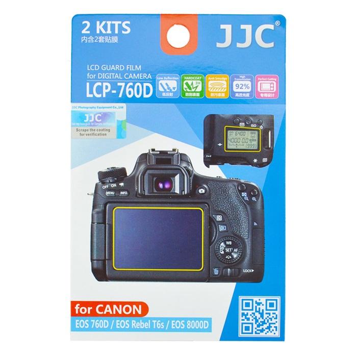 بررسی و {خرید با تخفیف} محافظ صفحه نمایش دوربین جی جی سی مدل LCP-760D مناسب برای دوربین کانن EOS 760D مجموعه 4 عددی اصل