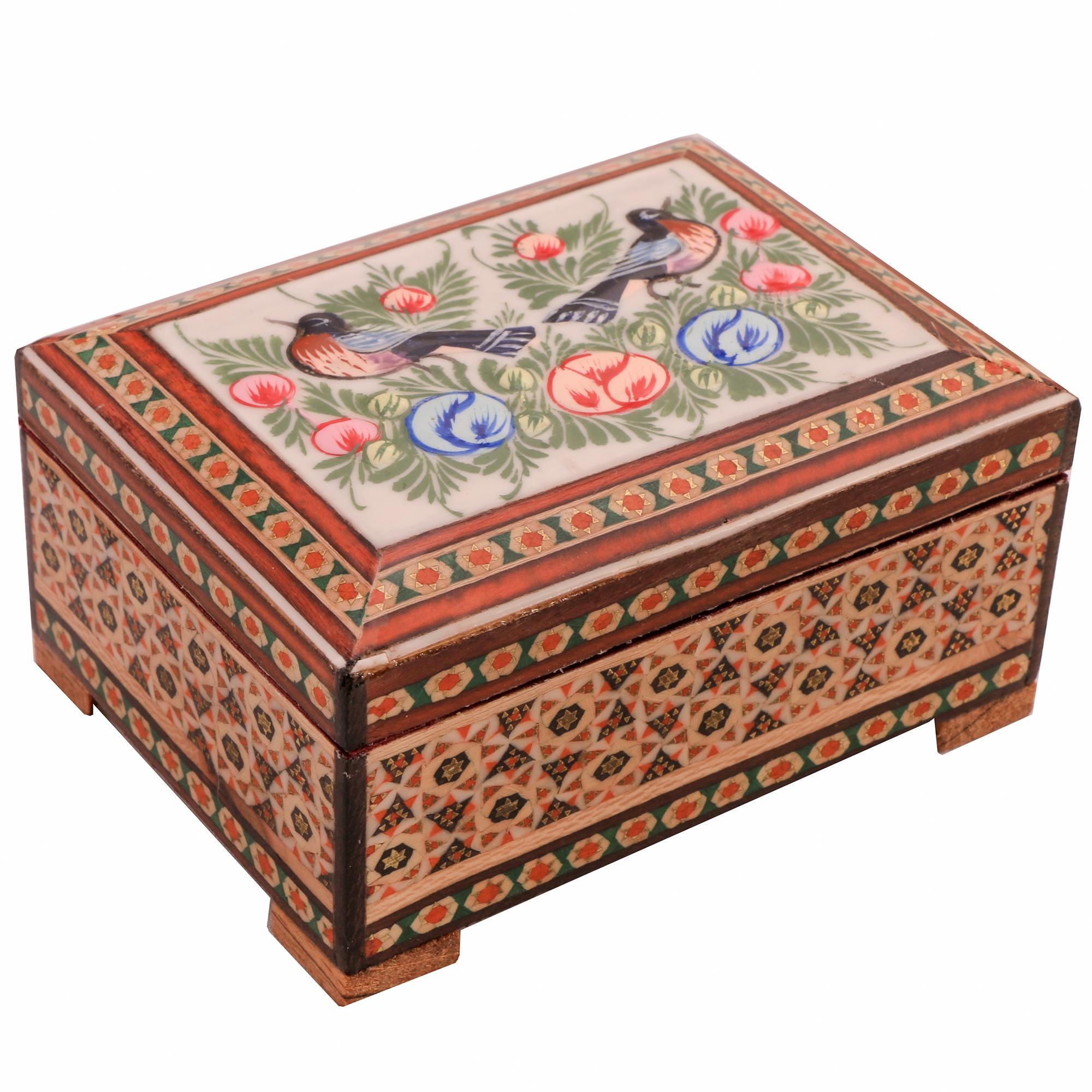 جعبه جواهرات خاتم کاری کد 1109