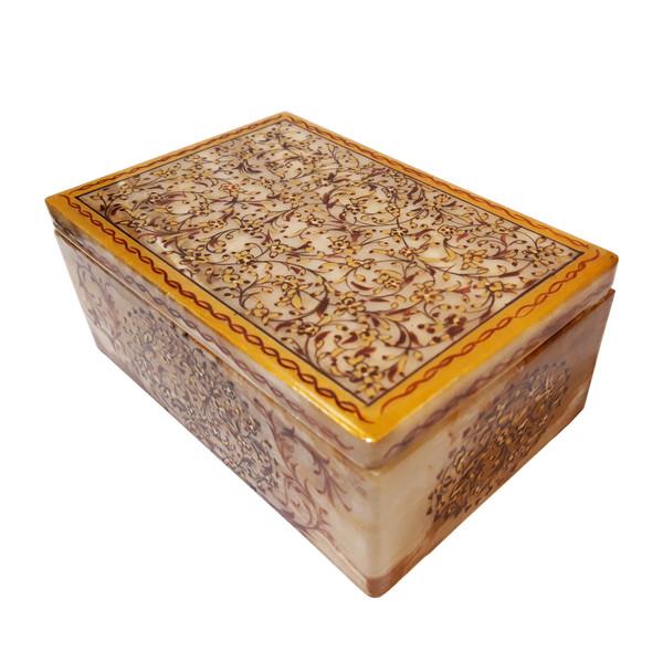 جعبه سنگ مرمر طرح گل ریز مدل 3001510
