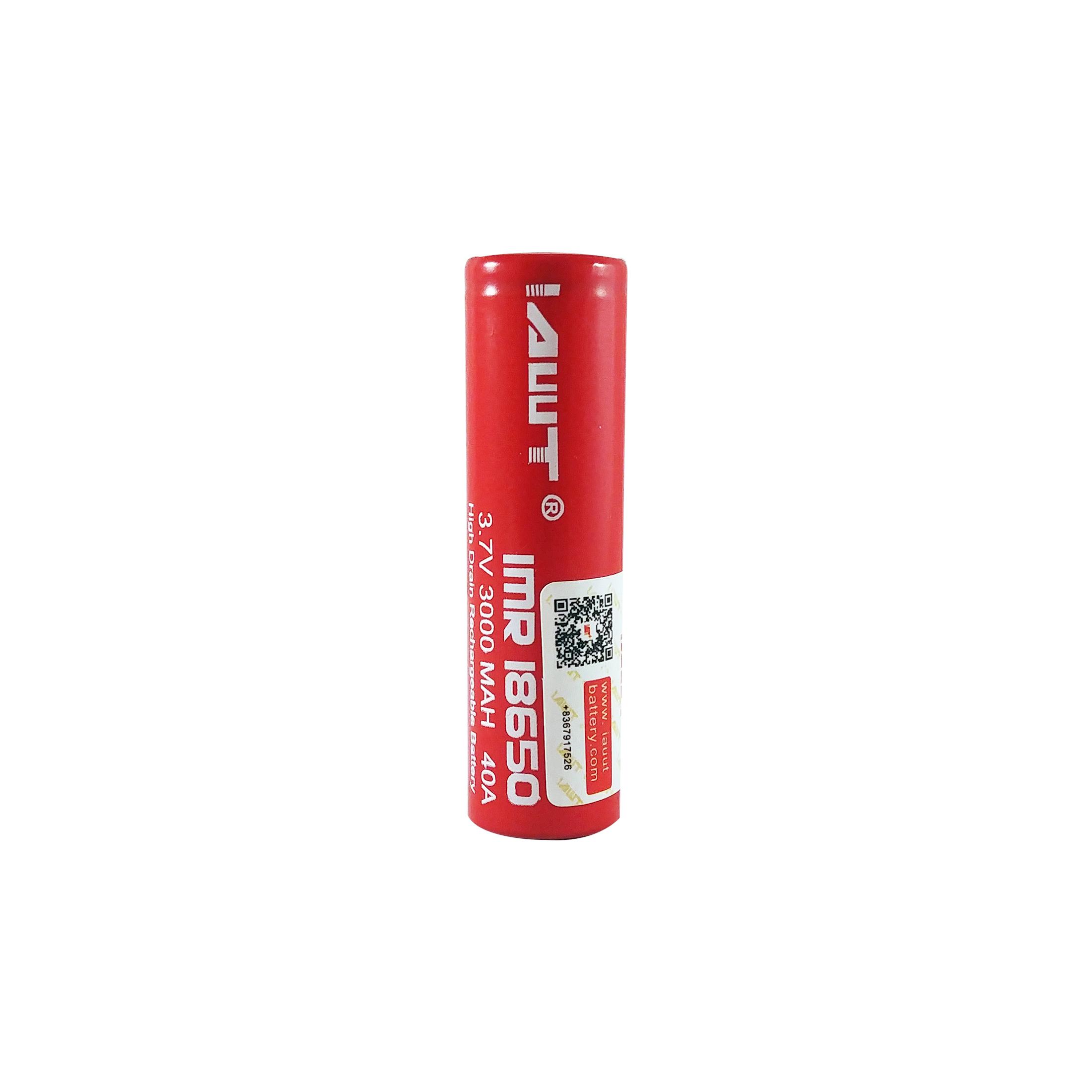 بررسی و {خرید با تخفیف}                                     باتری لیتیوم یون قابل شارژ ای دبلیو تی کد IMR18650 ظرفیت 3000 میلی آمپرساعت                             اصل