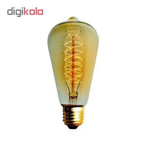 لامپ 40 وات مدل ST64 SPIRAL پایه E27