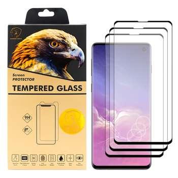 محافظ صفحه نمایش گلدن ایگل مدل DFC-X3 مناسب برای گوشی موبایل سامسونگ Galaxy S10 بسته سه عددی