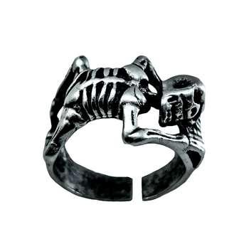 انگشتر مردانه طرح اسکلت کد ES45