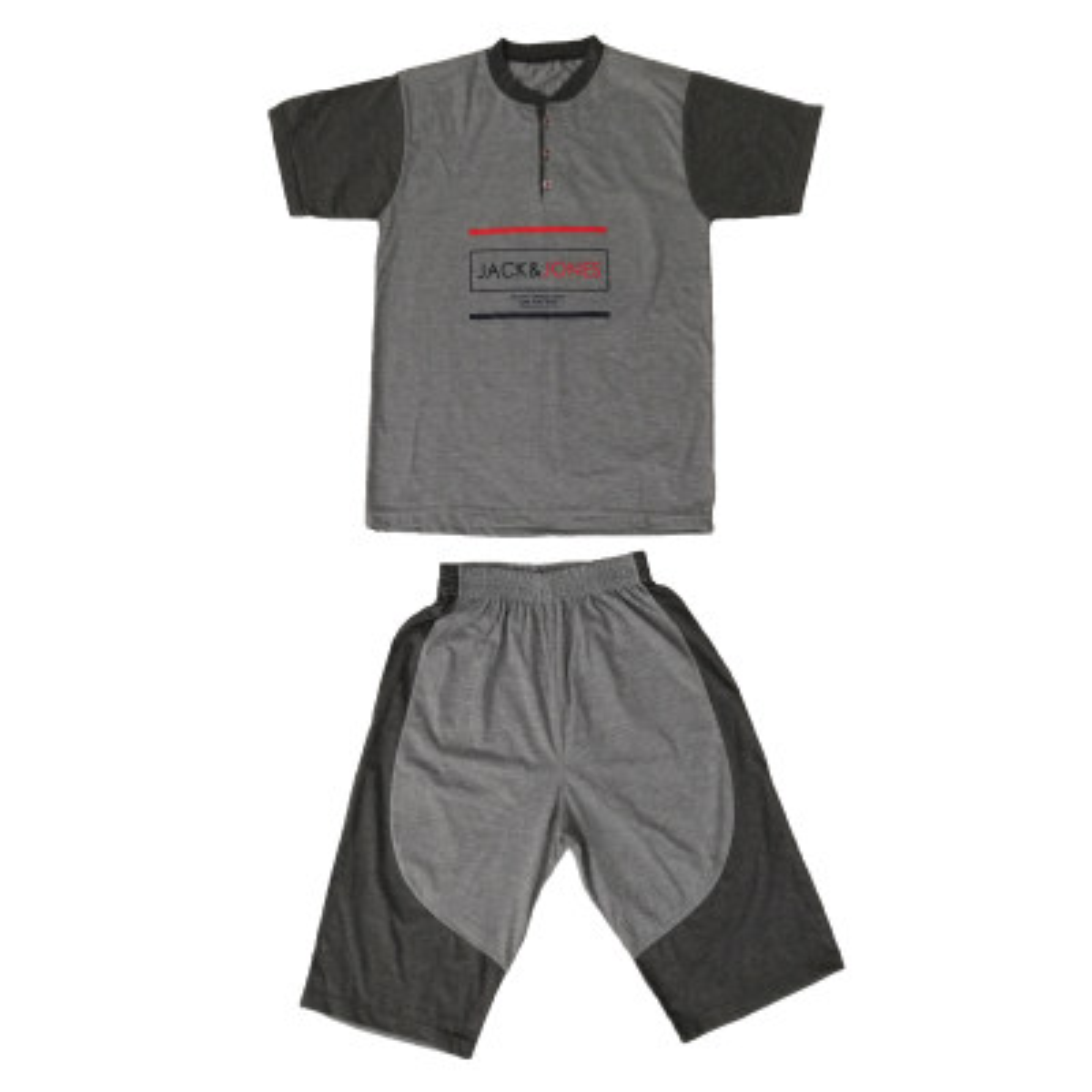 تصویر ست تی شرت و شلوارک مردانه مدل 0253