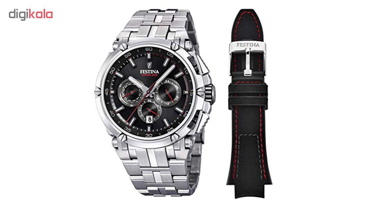ساعت مچی عقربه ای مردانه فستینا مدل F20327-6