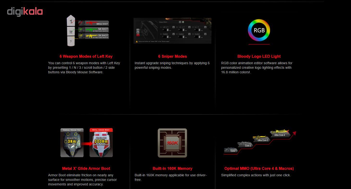 ماوس مخصوص بازی ای فورتک مدل P80 Pro