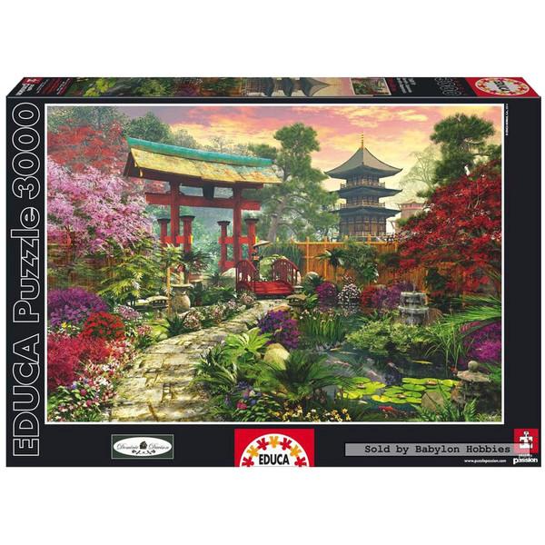 پازل 3000 تکه ادوکا مدل Japan Garden