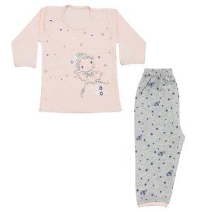 ست تی شرت و شلوار دخترانه طرح ستاره کد LS-08