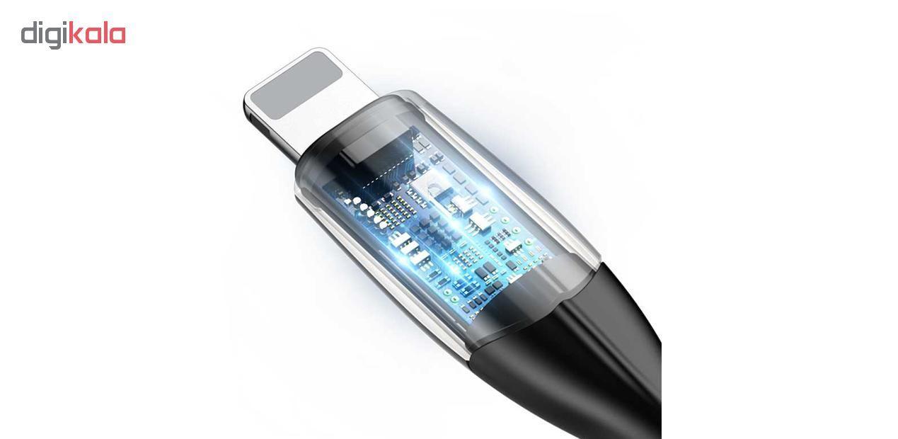 کابل تبدیل USB به لایتنینگ باسئوس مدل CALSP-B طول 1 متر main 1 12