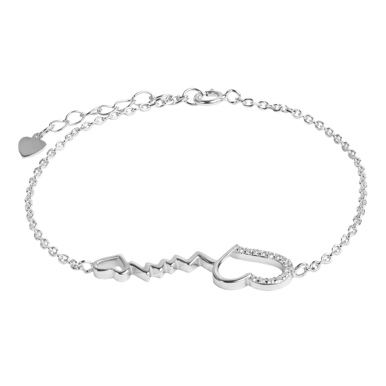 دستبند نقره زنانه اقلیمه کد DN428
