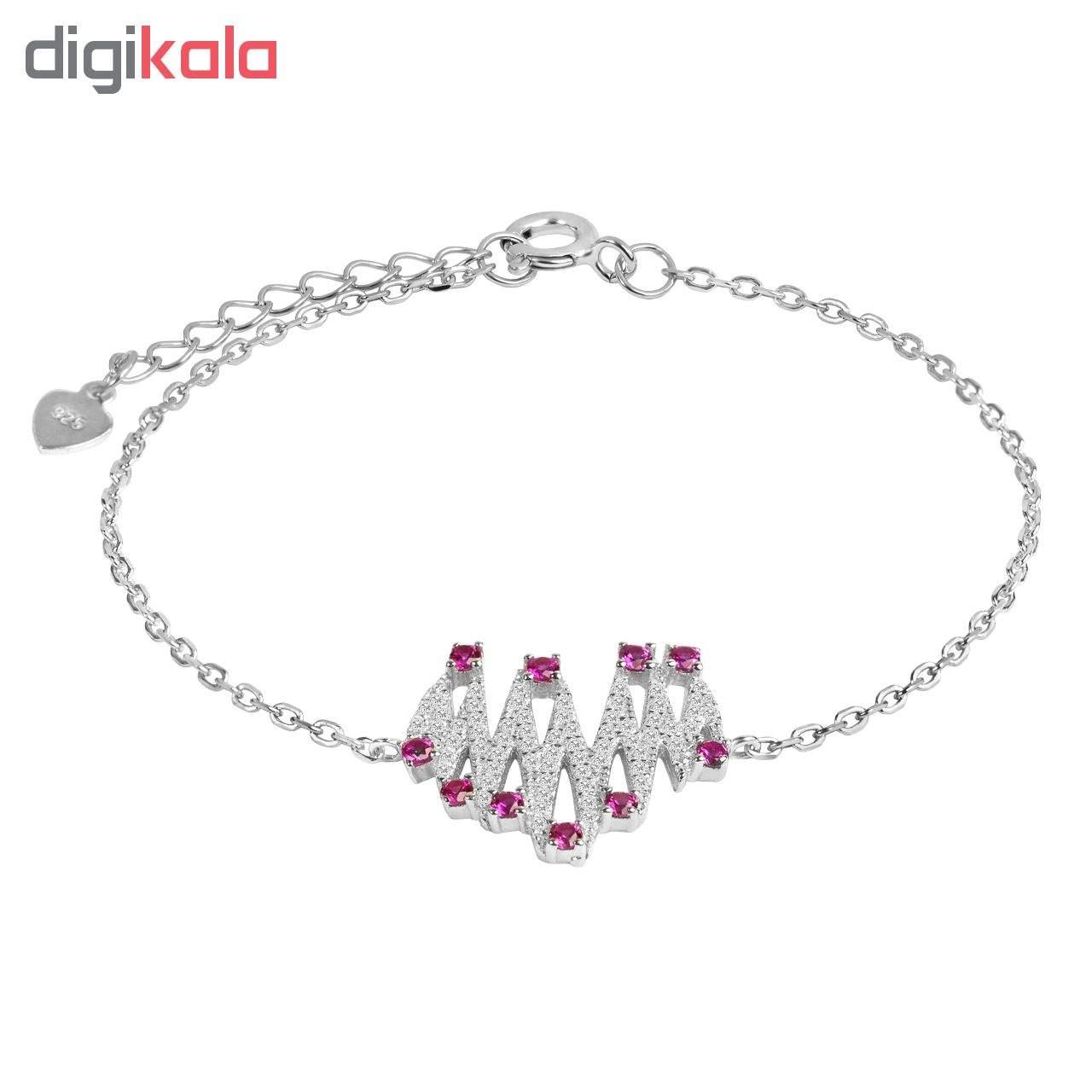 دستبند نقره زنانه اقلیمه کد DN429 -  - 3