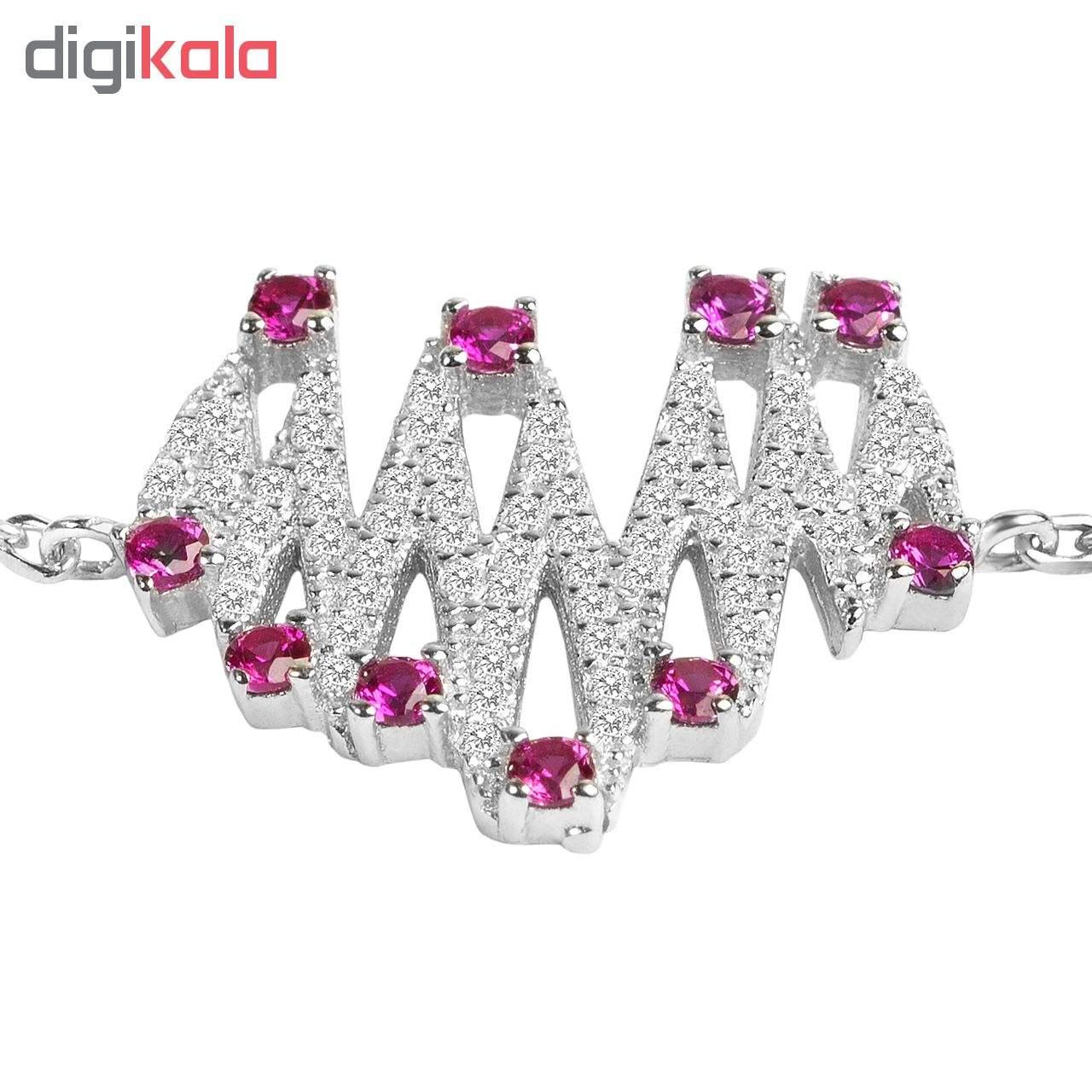 دستبند نقره زنانه اقلیمه کد DN429 -  - 4