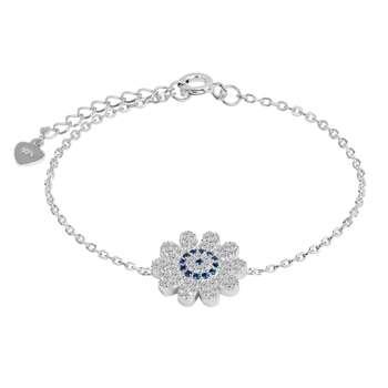 دستبند نقره زنانه اقلیمه کد DN430