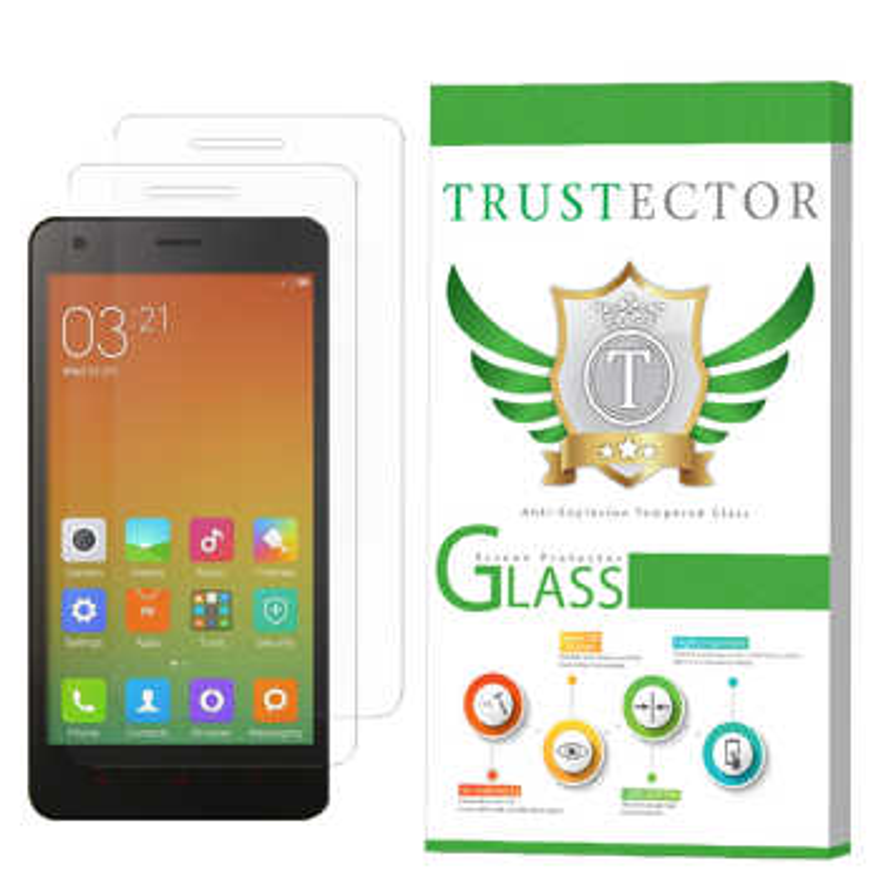 محافظ صفحه نمایش تراستکتور مدل GLS مناسب برای گوشی موبایل شیائومی Mi 4 بسته 2 عددی