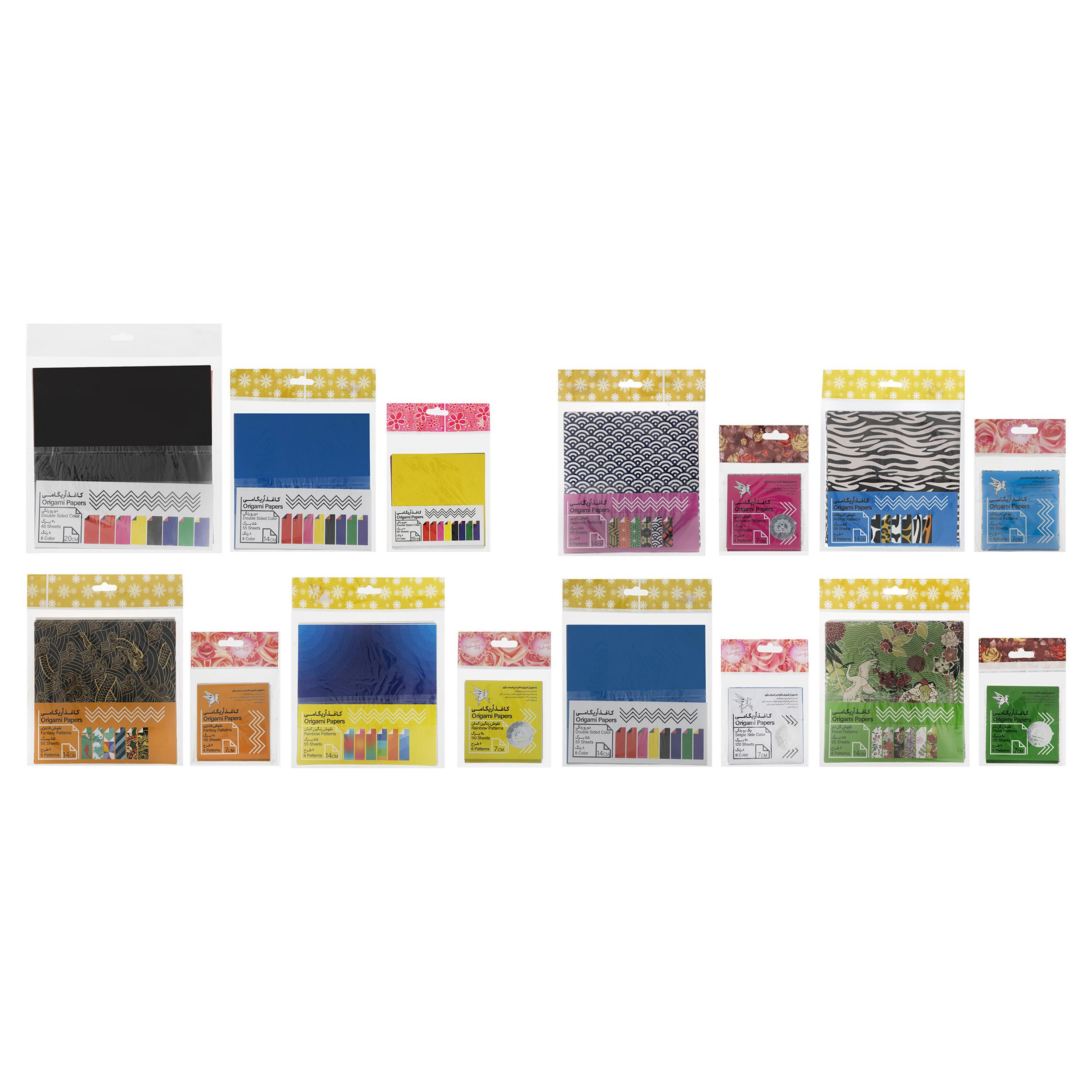 کاغذ اوریگامی کد 110 مجموعه 15 عددی