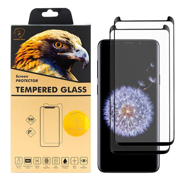 محافظ صفحه نمایش گلدن ایگل مدل DFC-X2 مناسب برای گوشی موبایل سامسونگ Galaxy S9 Plus بسته دو عددی