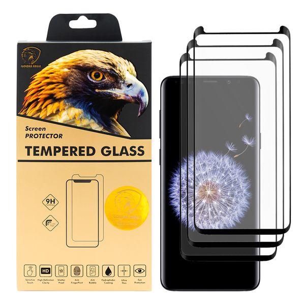 محافظ صفحه نمایش گلدن ایگل مدل DFC-X3 مناسب برای گوشی موبایل سامسونگ Galaxy S9 Plus بسته سه عددی