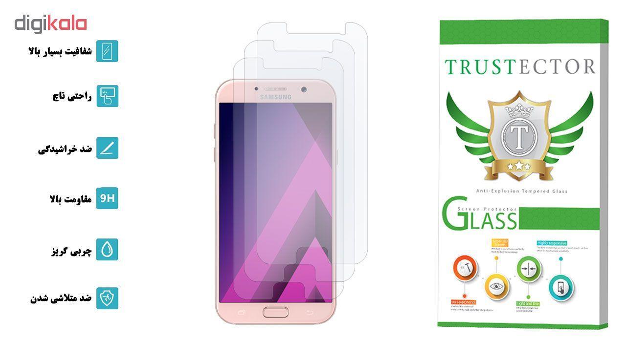 محافظ صفحه نمایش تراستکتور مدل GLS مناسب برای گوشی موبایل سامسونگ Galaxy A7 2017 بسته 3 عددی main 1 2