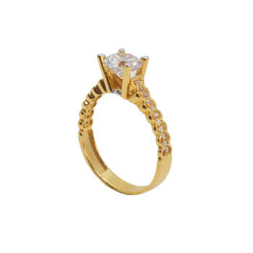 انگشتر طلا 18 عیار زنانه مدل B0009