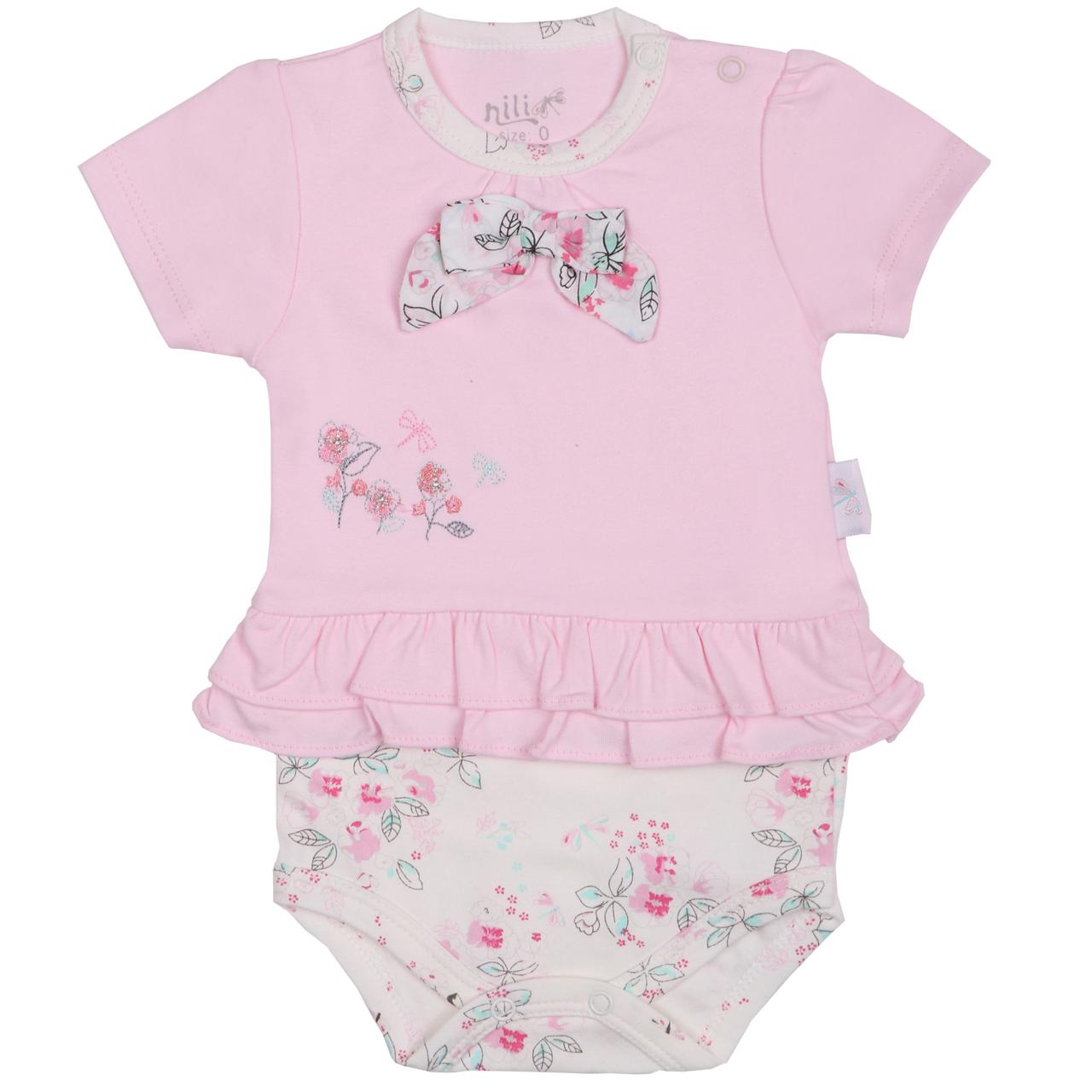 بادی نوزادی نیلی مدل لیانا کد 08017