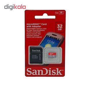 کارت حافظه microSDHC سن دیسک مدل Ultra A1 کلاس 10 استاندارد UHS-I سرعت 98MBps ظرفیت 32 گیگابایت به