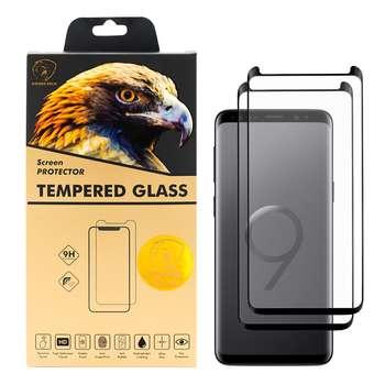 محافظ صفحه نمایش گلدن ایگل مدل HFC-X2 مناسب برای گوشی موبایل سامسونگ Galaxy S9 بسته دو عددی