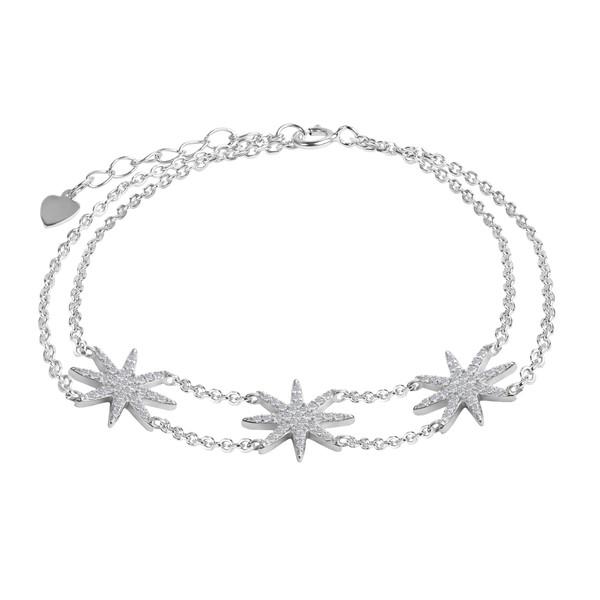 دستبند نقره زنانه اقلیمه کد DN433