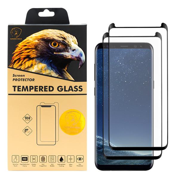 محافظ صفحه نمایش گلدن ایگل مدل DFC-X2 مناسب برای گوشی موبایل سامسونگ Galaxy S8 Plus بسته دو عددی