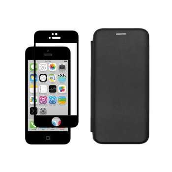 کیف کلاسوری مسیر مدل MMGNT-MGF-1 مناسب برای گوشی موبایل اپل iPhone 5/5S/SE به همراه محافظ صفحه نمایش