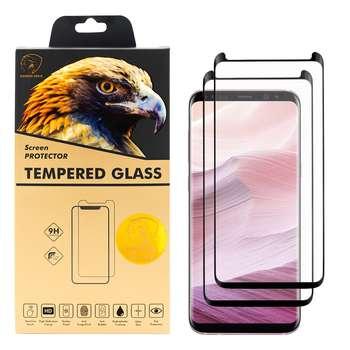 محافظ صفحه نمایش گلدن ایگل مدل DFC-X2 مناسب برای گوشی موبایل سامسونگ Galaxy S8 بسته دو عددی