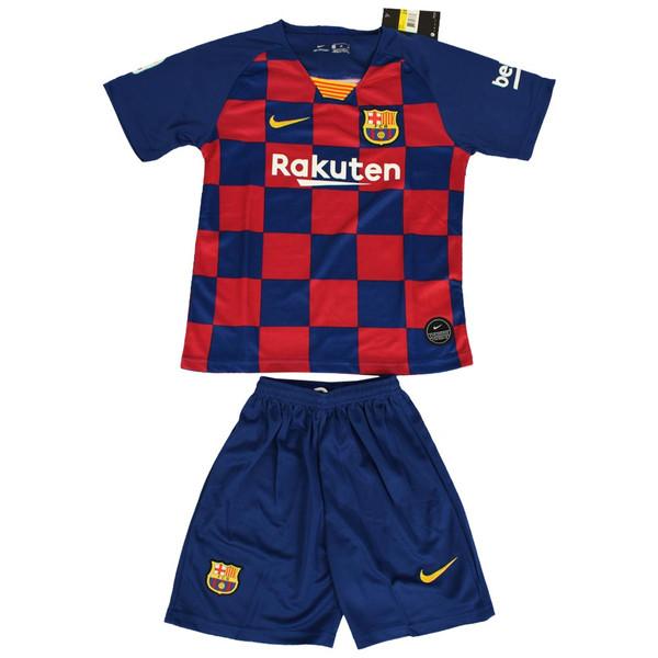 ست پیراهن و شورت ورزشی پسرانه طرح بارسلونا کد 2019.20 رنگ آبی