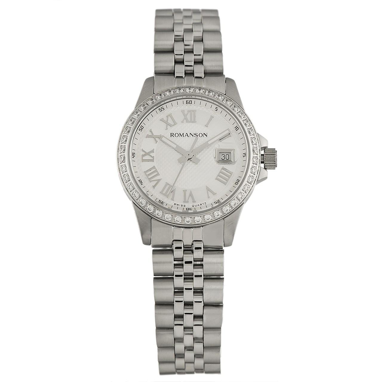 ساعت مچی عقربه ای زنانه رومانسون مدل TM0361QL1WAS2W